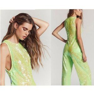 NWOT Free People Green Sequin Starbright J…